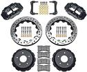 "1998-02 Superlite Rear Disc Brake Set with 13"" Drilled Rotors and  Black 4 Piston Calipers"