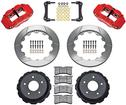 "1998-02 Superlite Rear Disc Brake Set with 13"" Slotted Rotors and  Red 4 Piston Calipers"