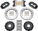 "1998-02 Superlite 6 Front Big Brake Disc Set with 13"" Slotted Rotors, Black Calipers for OE Spindles"