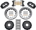 "1998-02 Superlite 6 Front Big Brake Disc Set with 13"" Drilled Rotors, Black Calipers for OE Spindles"