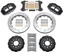 1998-02 Superlite 6 Big Front Brakes Disc Spindles 14 Slotted Rotors/Black Calipers