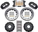 "1998-02 Superlite 6 Front Big Brake Disc Set with 14"" Drilled Rotors, Black Calipers for OE Spindles"