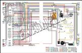 1974 NOVA FULL COLOR WIRING DIAGRAM - WITH CONSOLE - 8 1/2 X 11 - 2 SIDED