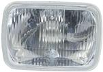 "H6054 Halogen Headlamp 5-1/2"" x 8"" - With Adjustment Knubs on Lens"