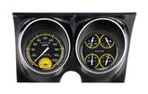 1967-68 F-Body Classic Instruments Dash Gauge Assembly-Autocross Series Black/Yellow