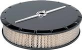 "14"" x 3"" Round Satin Black Powder Coated Billet Aluminum Streamline Series Air Cleaner"