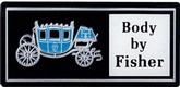 "1980-90 GM ""Body By Fisher"" Door Sill Plate Emblem"