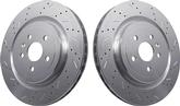 2010-12 Camaro V8 SSBC Brake Rotors Big Bite Cross Drilled Rear