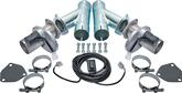 "Doug's 3"" Stainless Steel Electric Exhaust Cutouts Complete Set"