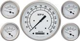 1959-60 Impala Classic White Gauge Set - Speedo, Fuel, Oil, Temp, Volts