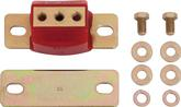 "1967-01 Red Polyurethane Zinc Finish Transmission Mount - Custom Applications 1-5/8"" Tall"