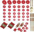 1973-80 Chevrolet/GMC Truck 4WD Polyurethane Hyper-Flex Master Set with Red Bushings