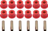 1967-87 Chevrolet/GMC Truck Polyurethane Rear Leaf Spring Bushing Set; Red