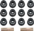 1955 Chevrolet Black Rear Leaf Spring Bushing Set