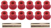 1955 Chevrolet Red Rear Leaf Spring Bushing Set