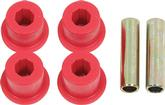 "1967-91 Chevrolet/GMC Truck 1-1/2"" OD Polyurethane Rear Shackle Eye Bushing Set; Red"