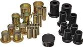 "1973-74 Black Polyurethane Control Arm Bushing Set with 1-3/8"" O.D. Front Lower Bushing"