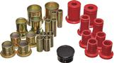 "1973-74 Red Polyurethane Control Arm Bushing Set with 1-3/8"" O.D. Front Lower Bushing"