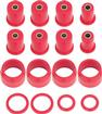 1965-70 Impala / Full Size With Single Upper Arm Red Polyurethane Rear Control Arm Bushing Set
