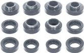 1967-81 Camaro Black Polyurethane Body Mount Bushing Set without Sleeves or Hardware