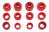 1967-81 Camaro Red Polyurethane Body Mount Bushing Set without Sleeves or Hardware