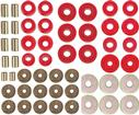 1965-70 Impala / Full Size 2 Door Hardtop Red Polyurethane Body Mount / Radiator Support Bushing Set