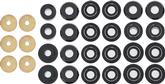 1991-96 IMPALA / CAPRICE BLACK POLYURETHANE BODY MOUNT / RADIATOR SUPPORT BUSHING SET