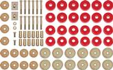 1961-64 Impala / Full Size Convertible Red Polyurethane Body Mount Bushing Set