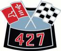 427 Air Cleaner Crossed Flags Die-Cast Emblem