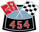Die-Cast 454 Crossed Flags Air Cleaner Emblem