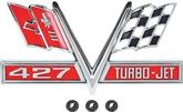 "1966-67 ""427 Turbo Jet"" Fender Emblem"