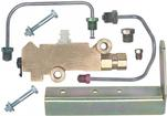 Front Disc/ Rear Drum Brake Combination Valve Set with Lines and Bracket