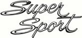 "1966-67 Chevy II / Nova ""Super Sport"" Quarter Panel Emblem"