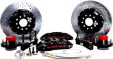 "1955-68 Impala/Full Size w/Stock Spindles Baer Extreme+ 14"" Front Disc Brake Set with Black Caliper"