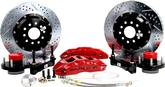"1955-68 Impala/Full Size w/Stock Spindles Baer Extreme+ 14"" Front Disc Brake Set with Red Caliper"