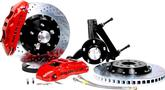 "1994-96 Impala/Caprice Baer Extreme+ 14"" Disc Brake Set with Spindles and Red Calipers"