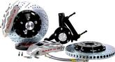 "1994-96 Impala/Caprice Baer Extreme+ 14"" Disc Brake Set with Spindles and Silver Calipers"