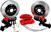 "1955-68 Impala/Full Size with Stock Spindles Baer 14"" Pro+ Front Disc Brake Set with Red Calipers"