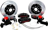 "1969-70 Impala / Full Size with Stock Spindle Baer 14"" Pro+ Front Disc Brake Set with Black Calipers"