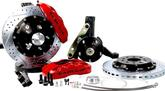 "1994-96 Impala / Caprie Baer 13"" Pro+ Front Disc Brake Set with Stock Spindles and Red Calipers"