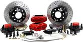 "1969-70 Impala/Full Size w/Stock Spindles Baer 11"" SS4+ Front Disc Brake Set with Red Calipers"