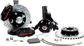 "1970-81 F-Body; 75-79 Nova Baer 11"" SS4+ Front Disc Brake Set withSpindles and Black Calipers"