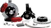 "1970-81 F-Body; 75-79 Nova Baer 11"" SS4+ Front Disc Brake Set withSpindles and Red Calipers"