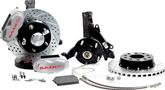 "1970-81 F-Body; 75-79 Nova Baer 11"" SS4+ Front Disc Brake Set withSpindles and Silver Calipers"