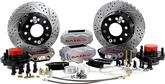 "1970-78 F-Body; 75-79 Nova Baer 11"" SS4+ Front Disc Brake Set with Silver Calipers"