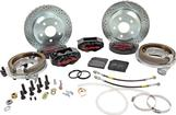"1982-92 F-Body w/Borg-Warner 9-bolt Rear End Baer 12"" SS4 Rear Disc Brake Set with Black Calipers"