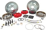 "1982-92 F-Body w/Borg-Warner 9-bolt Rear End Baer 12"" SS4 Rear Disc Brake Set with Red Calipers"