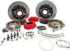 "1982-92 F-Body w/Borg-Warner 9-bolt Rear End Baer 13"" SS4+ Rear Disc Brake Set with Red Calipers"