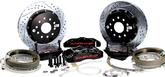 "1982-92 F-Body with Saginaw 10-bolt Drum Rear End Baer 14"" Pro+ Rear Disc Set with Black Calipers"