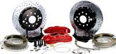 "1982-92 F-Body with Saginaw 10-bolt Drum Rear End Baer 14"" Pro+ Rear Disc Set with Red Calipers"